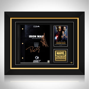 Iron Man Movie Script Frame - Limited Signature Edition Studio Licensed Custom Frame