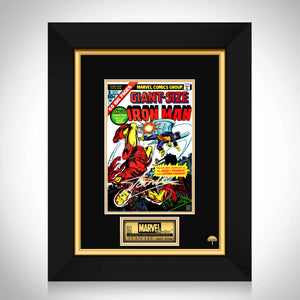 Giant Size- Iron Man (1975) #1 Stan Lee Limited Signature Edition Comic Book Cover Art Custom Frame