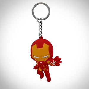 Iron Man Double Sided Rubber Keychain