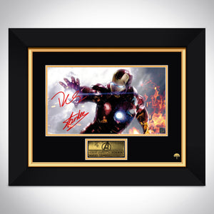 Iron Man Shooting Photo Limited Signature Edition Studio Licensed Custom Frame