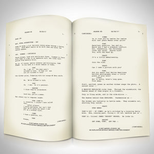 Iron Man Movie Script Limited Signature Edition Studio Licensed Custom Frame