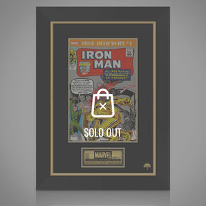 Iron Man True Believers #1 Hand-Signed Comic Book By Stan Lee Custom Frame