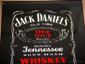 RARE-T | Vintage JACK DANIEL'S-OLD NO.7 Whiskey Bar Mirror product image close up
