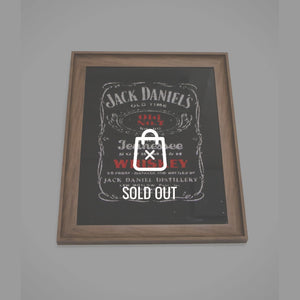 Original Vintage Reverse Foil 'Jack Daniel'S-Old No.7 ' Whiskey Bar Mirror/Advertisement