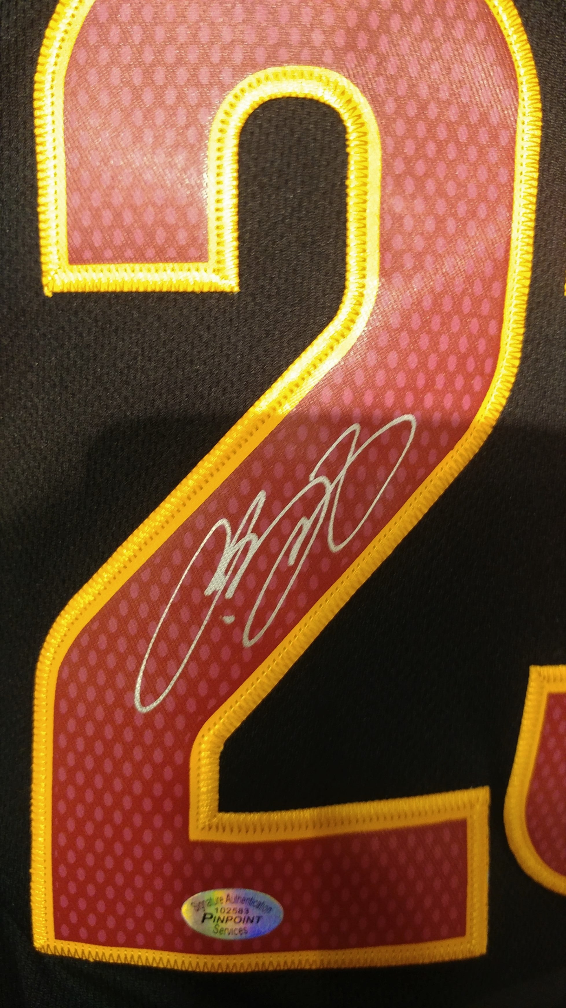 the latest 047bc 4ab5c LEBRON JAMES - CLEVELAND CAVALIERS Hand Signed Black Jersey
