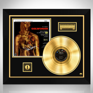 James Bond Goldfinger Gold LP Limited Signature Edition Studio Licensed Custom Frame