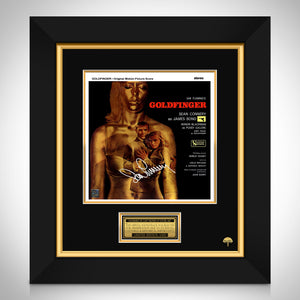 James Bond Goldfinger Soundtrack Limited Signature Edition Studio Licensed LP Cover Custom Frame