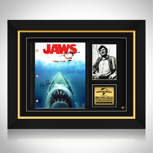 Jaws- Limited Signature Edition Studio Licensed Script Custom Frame
