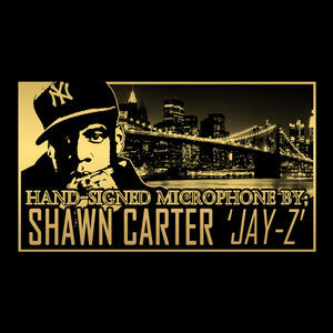 Jay-Z - Hand-Signed Microphone By Shawn Corey Carter 'Jay-Z' Museum Display