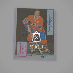 Handsigned Montreal Canadiens 'Jean Beliveau' Postcard 3X5
