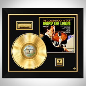 Jerry Lee Lewis The Golden Rock Hits Limited Signature Edition Studio Licensed Gold LP Custom Frame