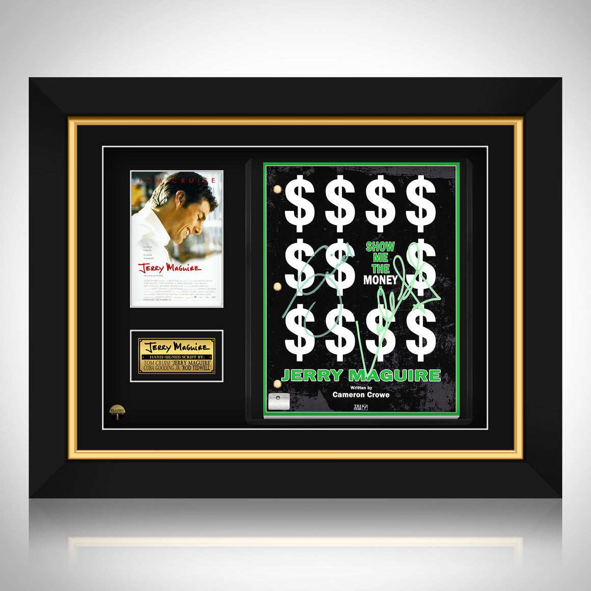 Jerry Maguire - Hand-Signed Script by Tom Cruise & Cuba Gooding Jr. Custom frame