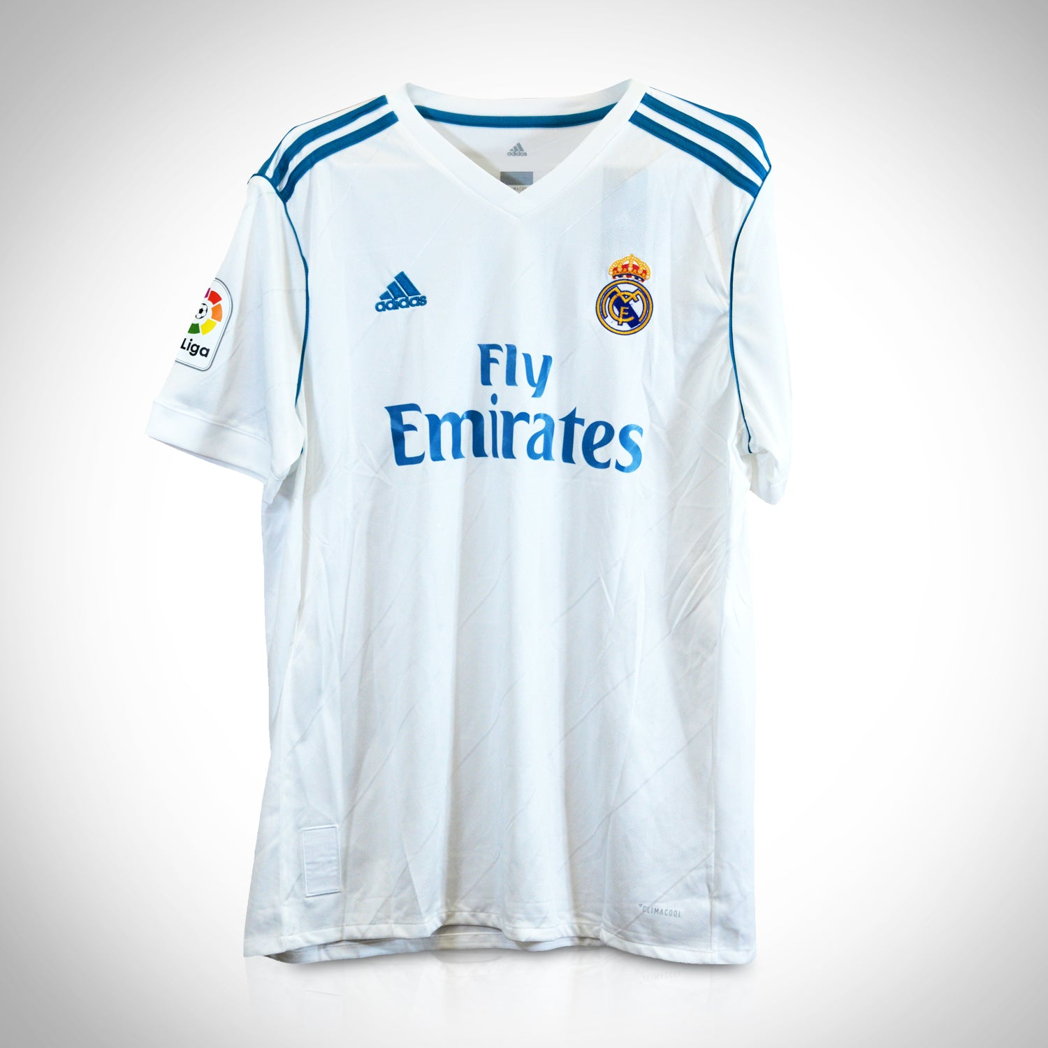 pretty nice 4aed2 4ded5 CRISTIANO RONALDO - REAL MADRID 2017-2018 Handsigned Soccer White Jersey