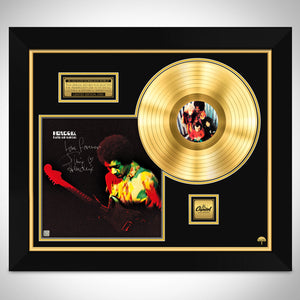 Jimi Hendrix Band of Gypsys Limited Signature Edition Studio Licensed Gold LP Custom Frame