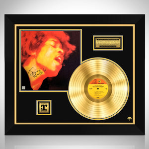 Jimi Hendrix Experience Electric Ladyland Limited Signature Edition Licensed Gold LP Custom Frame