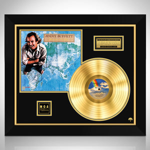 Jimmy Buffett Somewhere Over China Limited Signature Edition Studio Licensed Gold LP Custom Frame