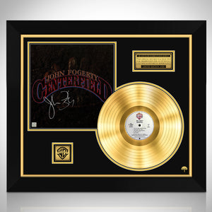 John Fogerty Centerfield Limited Signature Edition Studio Licensed Gold LP Custom Frame