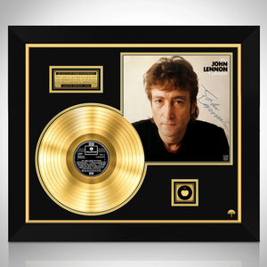 John Lennon The John Lennon Experience Limited Signature Edition Licensed Gold LP Custom Frame