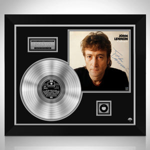 John Lennon The John Lennon Experience Limited Signature Edition Licensed Platinum LP Custom Frame