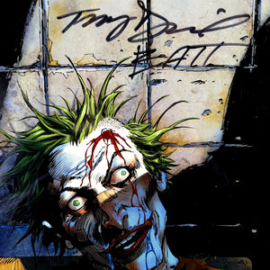 The Joker- 'Joker In Asylum' Hand-Signed Artwork Print By Artist Tony Daniel Custom Frame