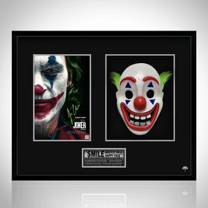 Joker- Joaquin Phoenix Limited Edition Signature Series Joker Photo & Clown Mask Custom Frame