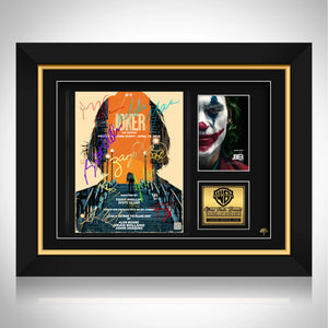 Joker - Movie Script Joaquin Phoenix Limited Signature Edition Studio Licensed Custom Frame