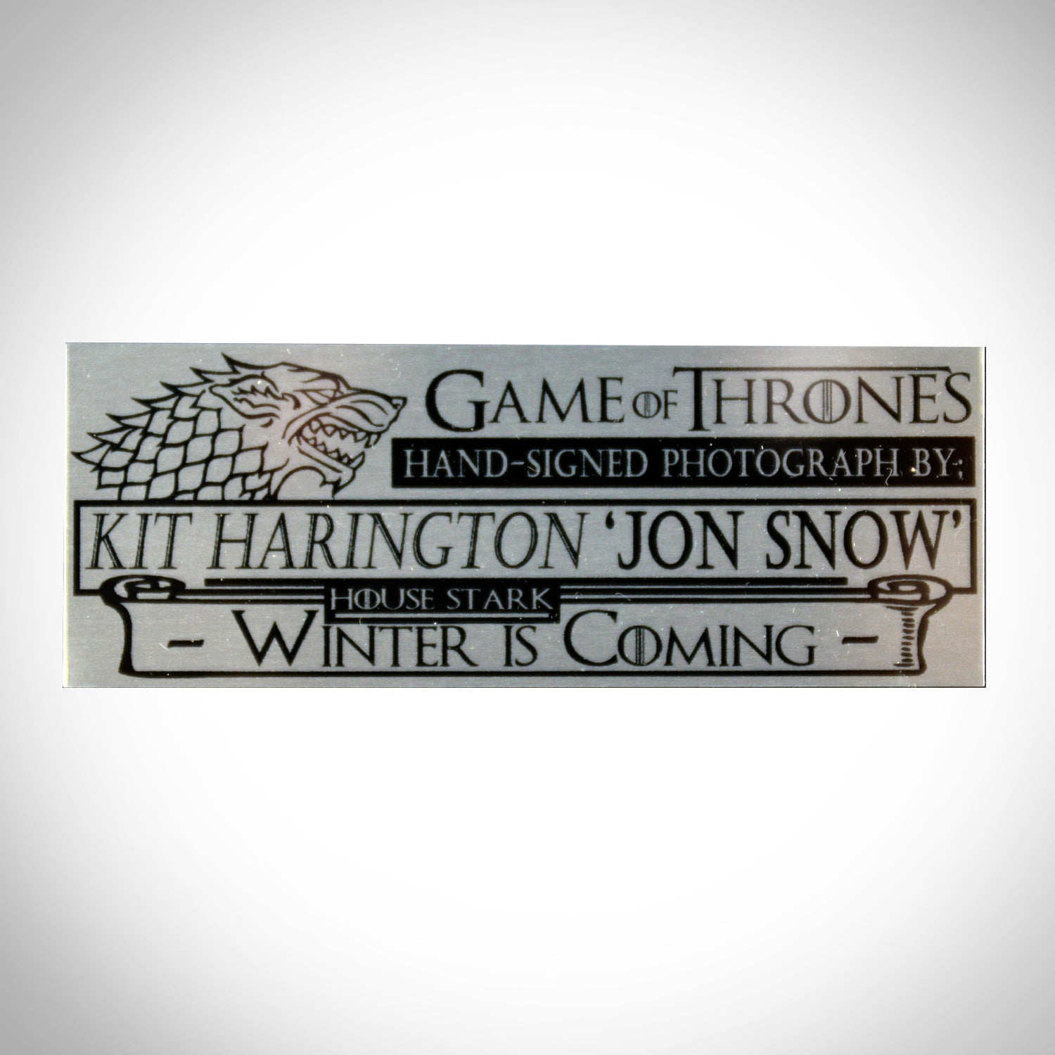 RARE-T Exclusive \'GAME OF THRONES HANDSIGNED BY KIT HARINGTON\' Custom