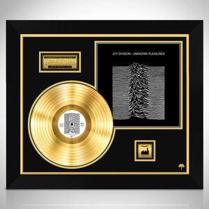 Joy Division 'Unknown Pleasures' Limited Collectors' Edition Studio Licensed Gold LP Custom Frame