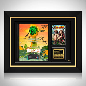Jumanji Welcome to the Jungle Script Limited Signature Edition Studio Licensed Custom Frame
