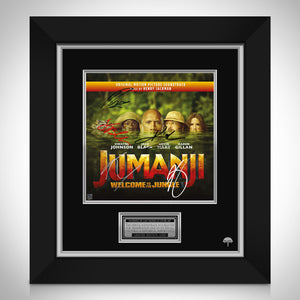 Jumanji Welcome to the Jungle - Soundtrack LP Cover Limited Signature Edition Studio Licensed Custom Frame