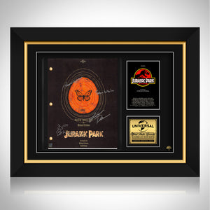 Jurassic Park Movie Script Limited Signature Edition Studio Licensed Custom Frame