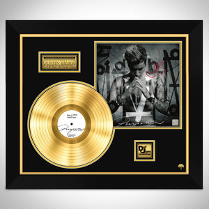 Justin Bieber- Purpose Gold Plated LP Hand-Signed by Justin Bieber Custom Frame