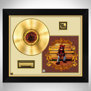 Kanye West College Dropout Gold LP Limited Signature Edition Studio Licensed Custom Frame