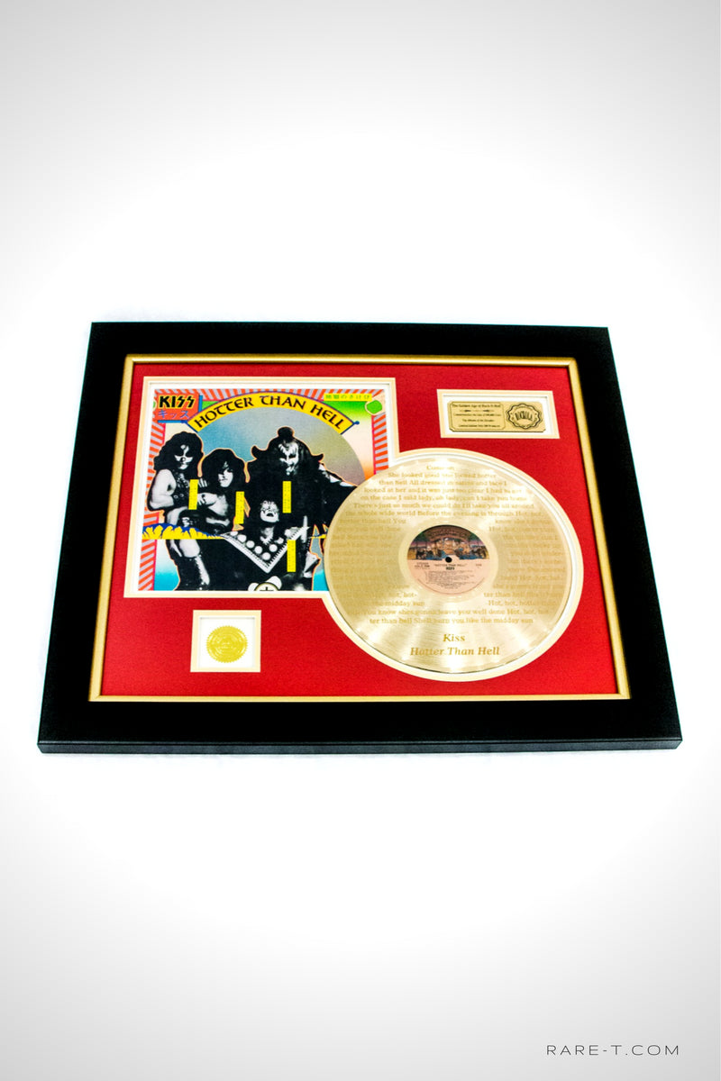 RARE-T Exclusive | 'KISS - HOTTER THAN HELL' GOLD LP
