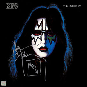 KISS - Ace Frehley Solo Album Limited Signature Edition Studio Licensed Gold LP Custom Frame