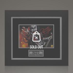 Kiss - Hand-Signed Gene With Guitar Photo By Gene Simmons In A  Custom Frame