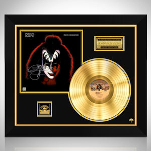KISS - Gene Simmons Solo Album Limited Signature Edition Studio Licensed Gold LP Custom Frame