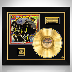 KISS Hotter Than Hell Limited Signature Edition Studio Licensed Gold LP Custom Frame