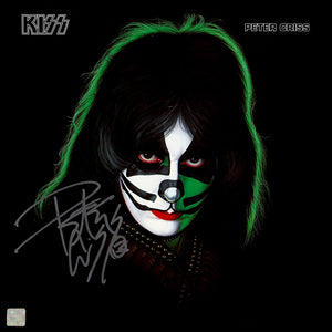 KISS Peter Criss Gold LP Limited Signature Edition Studio Licensed Custom Frame