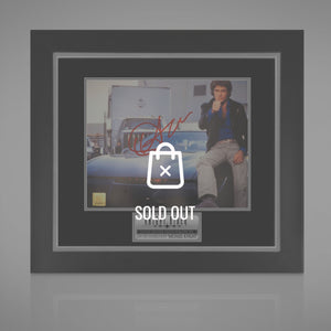 Knight Rider Hand-Signed Photo By David Hasslehoff Rare-T Exclusive Custom Frame