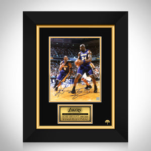 Kobe Bryant & Shaq Photo- Lakers Ball Pass Limited Signature Edition Studio Licensed Custom Frame