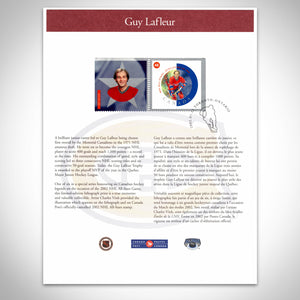 Montreal Canadiens- Guy Lafleur Hand-Signed Limited Edition  Lithograph by Guy Lafleur Custom Frame