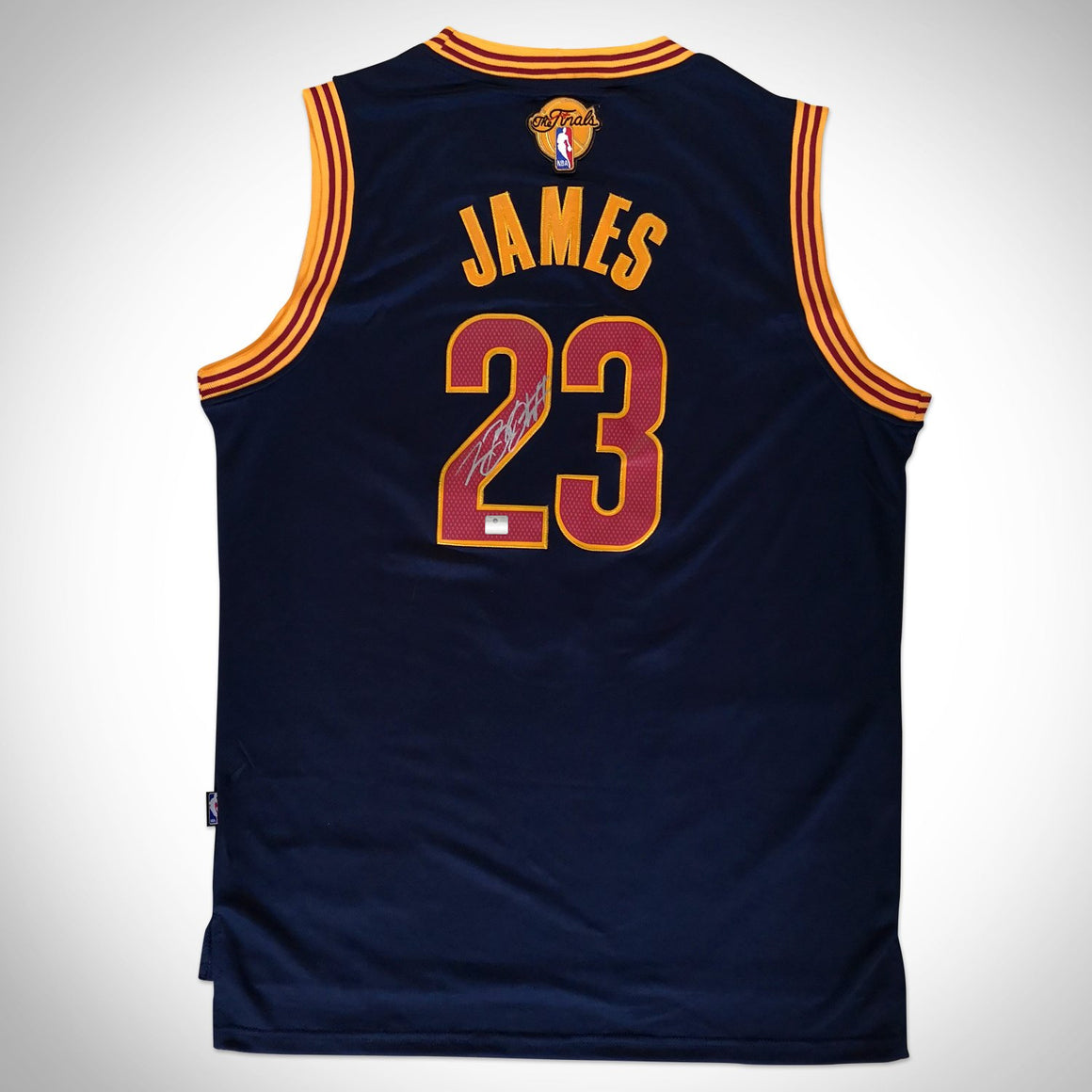 Lebron James- Hand-Signed Cleveland Cavaliers Blue Jersey Custom Frame