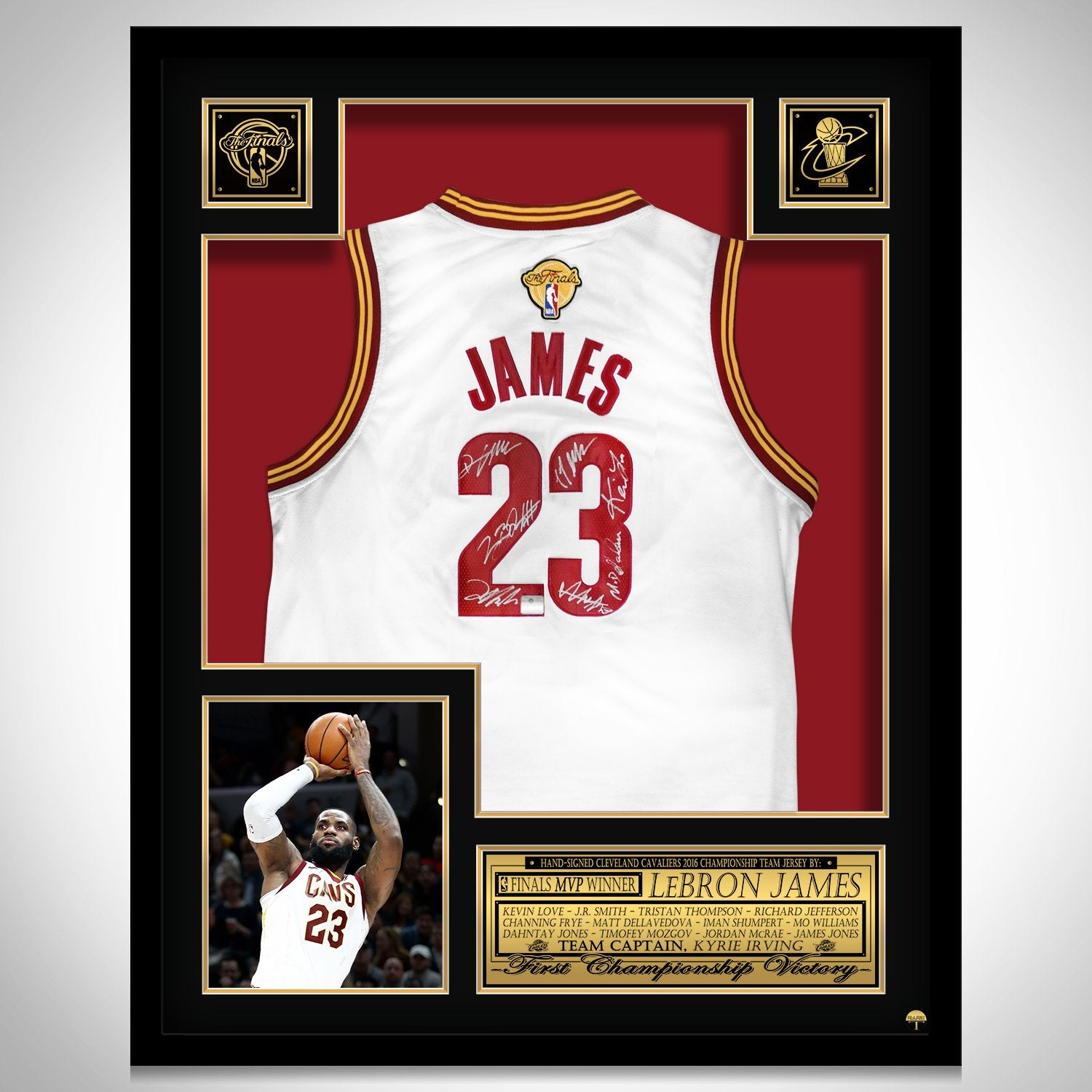 the best attitude e71f8 fd49d Lebron James- Team Hand-Signed Cleveland Cavaliers Jersey Custom Frame