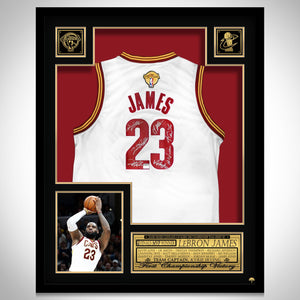 Lebron James- Team Hand-Signed Cleveland Cavaliers Jersey Custom Frame