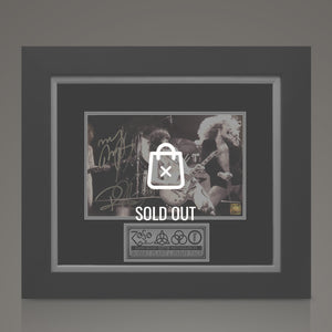 Led Zeppelin -  Hand-Signed On Stage Photo By Jimmy Page & Robert Plant Custom Frame