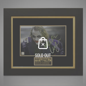 "Batman Dark Knight Hand Signed ""Joker Card"" Photo By Heath Ledger Rare-T Exclusive Custom Frame"