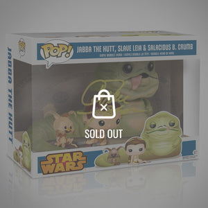 STAR WARS - Hand-Signed Leia & Jabba Funko Pop Exclusive Edition by Carrie Fisher