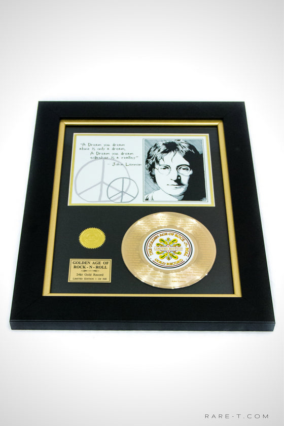 RARE-T Exclusive | 'JOHN LENNON - BEAUTIFUL BOY LYRICS' GOLD 45