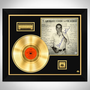 Leonard Cohen Live Limited Signature Edition Studio Licensed Gold LP Custom Frame